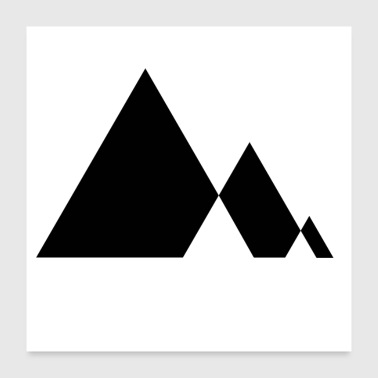 Triangle Triangle - mountains in the minimalist triangle desig - Poster 24 x 24 (60x60 cm)