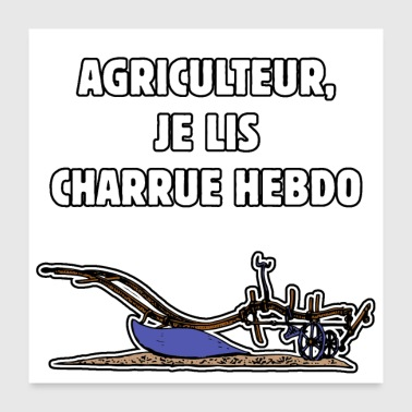 Farmer FARMER, JE LIS CHARRUE HEBDO - WORDS OF WORDS - Poster 24 x 24 (60x60 cm)