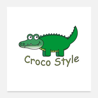 Style Croco Style - Poster 60x60 cm