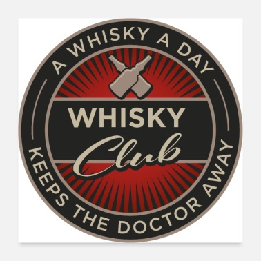 Whisky Club de whisky - Poster 60 x 60 cm