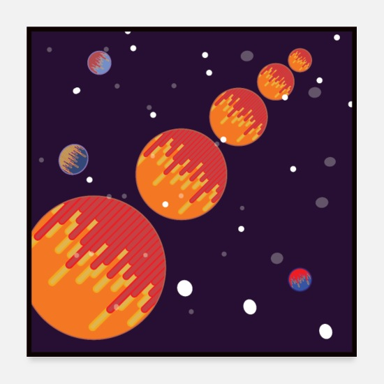 Galaxy Posters - Galaxy Plakat - plads, planeter - Posters hvid