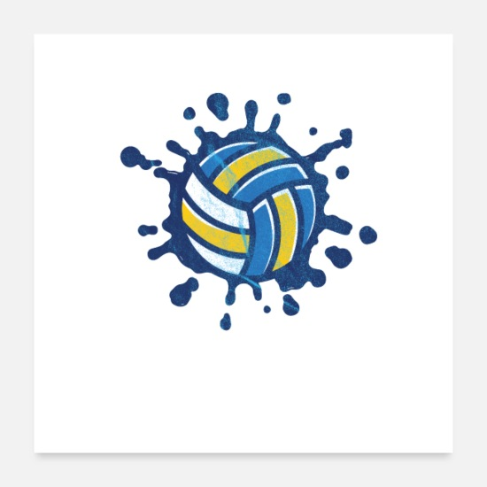 Match De Volley Posters - volley-ball - Posters blanc