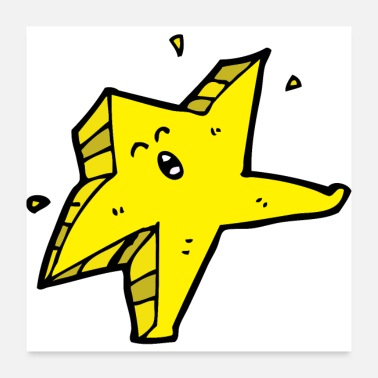 Asterisk Happy Star | Yellow | gift idea - Poster