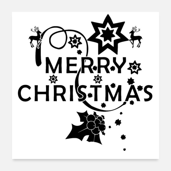 Gift Idea Posters - MERRY CHRISTMAS SPARKLE (poster) - Posters white