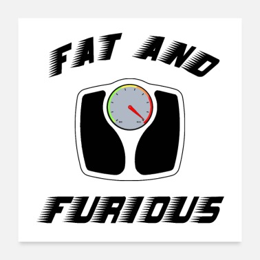 Word FAT AND FURIOUS - Word Games - Francois Ville - Poster 24 x 24 (60x60 cm)