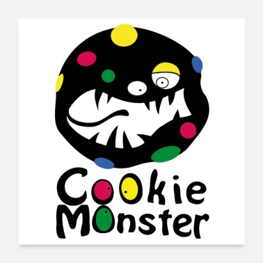 Bonbons Cookie Monster (affiche) - Poster 60 x 60 cm