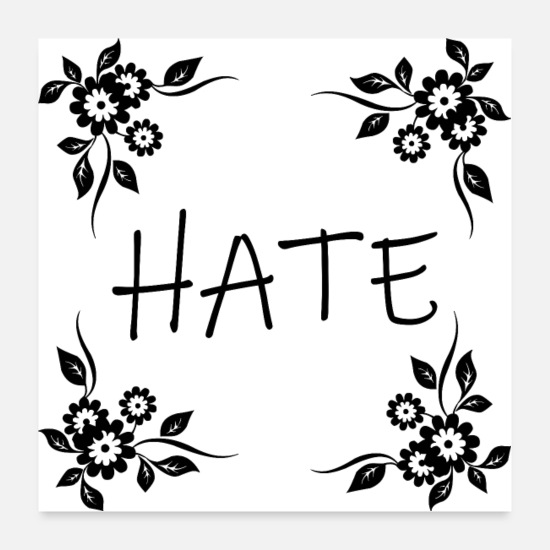 Offeso Poster - HATE (poster) - Poster bianco