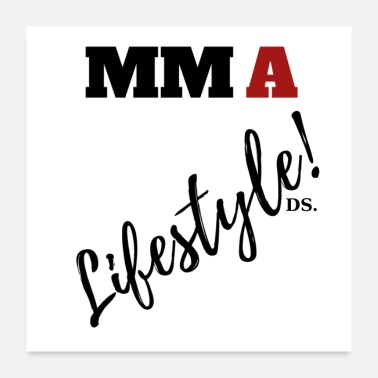 Sayings MMA Lifestyle Sayings Say Cool COOl Say DS - Poster 24 x 24 (60x60 cm)