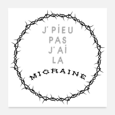 Wedding I PLEASE NOT I HAVE MIGRAINE - Word Games - Poster 24 x 24 (60x60 cm)