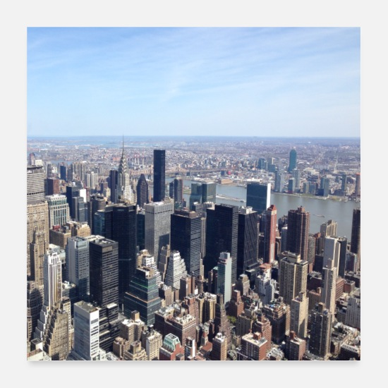 York Posters - NYC d'en haut - Posters blanc