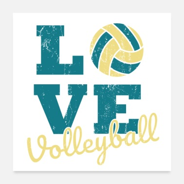 Beach Volleyball Love volleyball volleyball sports saying gift - Poster
