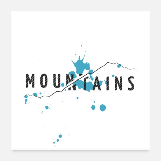 Nord Posters - MONTAGNES - BLEU - Posters blanc