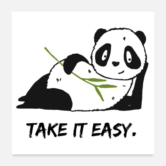 Bamboo Poster - Take it easy. - Poster Weiß