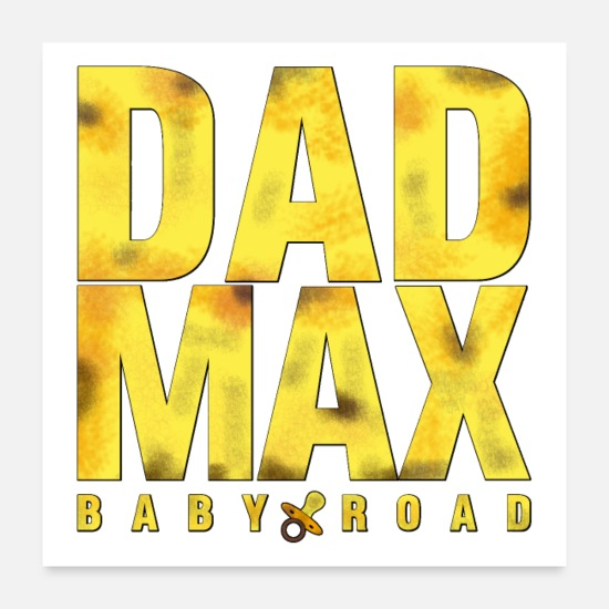 Pacifier Posters - DAD MAX - Word Games - Francois Ville - Posters white