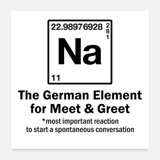 Nerdy Poster - NA - Element for Meet & Greet - Periodensystem - Poster Weiß