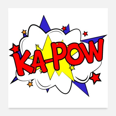 Comic Ka-Pow Pow comic strip comic cartoon strip cartoon - Poster