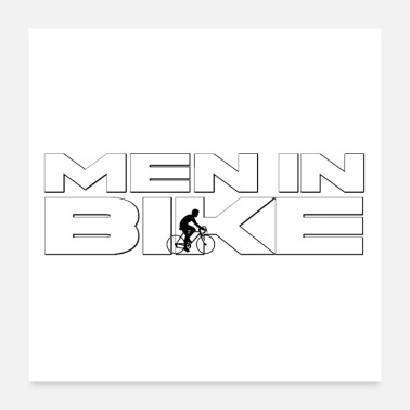 Bike MEN IN BIKE - Word Games - Poster