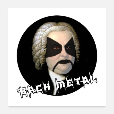 Black Metal BACH BLACK METAL - Poster