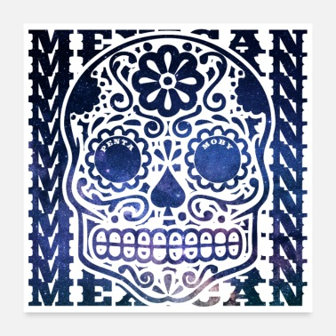 Traditie MEXICO MEXICAANSE WERELD TALL DEAD HEAD (poster) - Poster