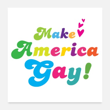 No War Make America gay! in cute rainbow - Poster
