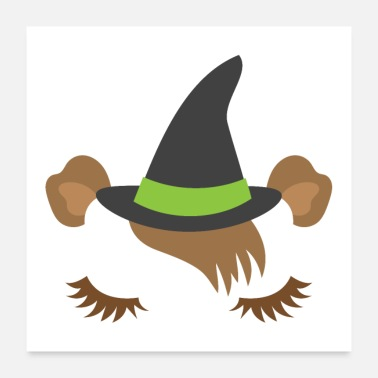 Witching Hour Sleepy little guinea pig witch for HALLOWEEN - Poster