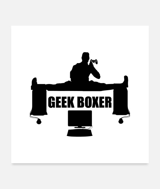 Smartphone Posters - GEEK BOXER - Posters white