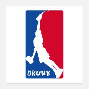 Misappropriation DRUNK DUNK BASKETBALL - Poster