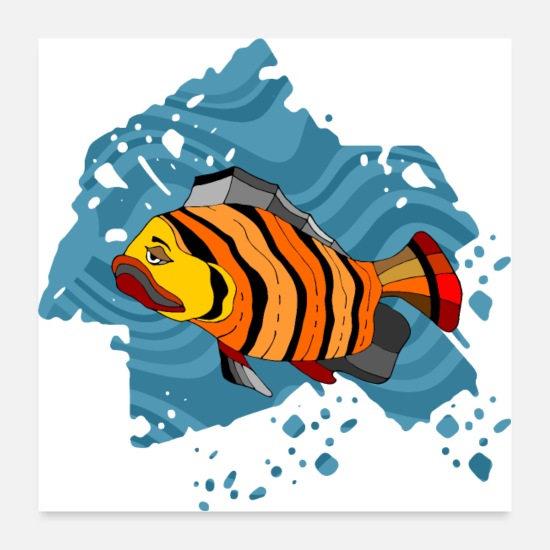 Symbol  Posters - Colorful fish - Posters white