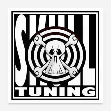 Tuning Cars workshop tuning skull car engine - Poster