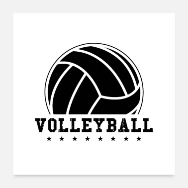 Volleyballs Volleyball Volleyball team sport ball gift - Poster