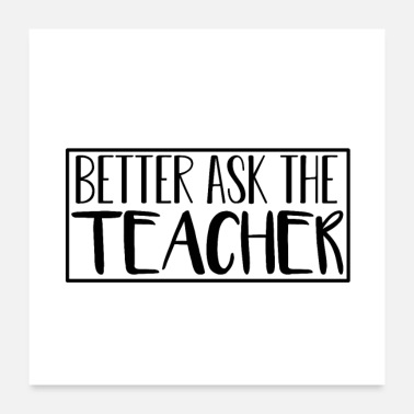 Vocational School Teacher Teacher Sayings | Educator school gift - Poster