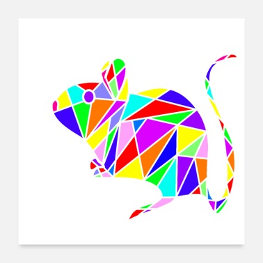Little Mouse mouse polygon - Poster