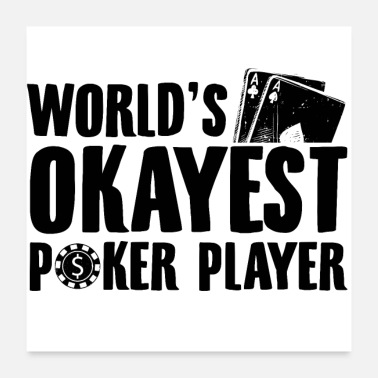 Casino Poker Player Poker Poker Face Casino Gifts - Poster