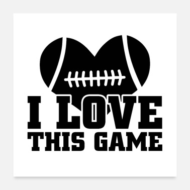 Touchdown Match de football | Cadeau de touché pour les fans de football - Poster