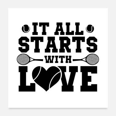 Tennis Playing tennis | Tennis tennis ball sports gifts - Poster