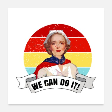 Pflege We can do it! Spruch Pfleger T-Shirt Nurse - Poster