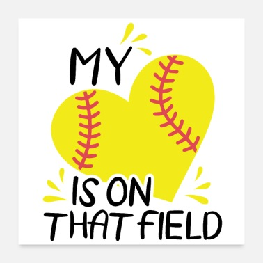 Softball Player Softball Team | Softball team gift idea - Poster