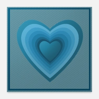 Heart Rate blue heart - Poster