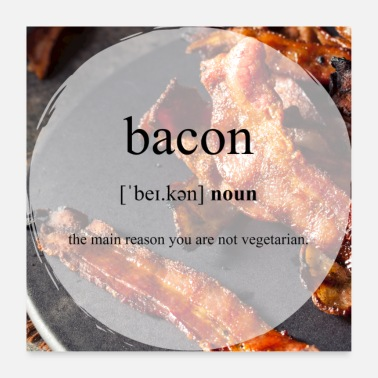 Speck Bacon (Speck) Definition Dictionary Poster - Poster