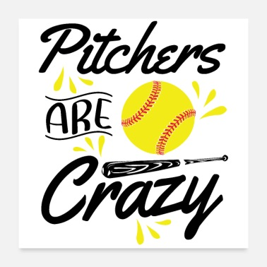 Softball Softball pitcher | Softball player sport hobby gift - Poster
