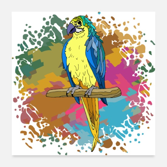 Symbol  Posters - Parrot bird - Posters white