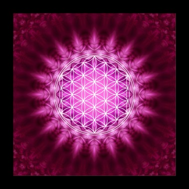 Flower of Life Yoga Meditation Lotus Mandala - Poster 24 x 24 (60x60 cm)