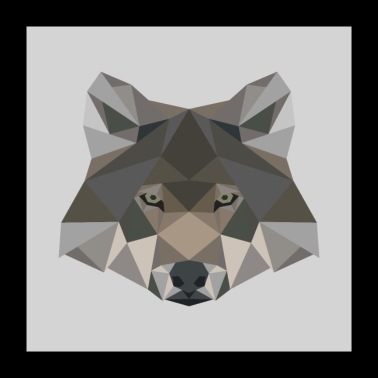 Wolf geometric gift wild animal dog - Poster 24 x 24 (60x60 cm)