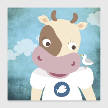 Poster cow nursery - Poster 60x60 cm
