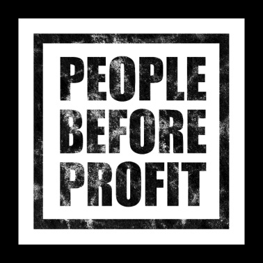 People Before Profit - Antikapitalimus (light) - Poster 24 x 24 (60x60 cm)