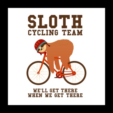 Sloth Cycling Team - Poster 24 x 24 (60x60 cm)