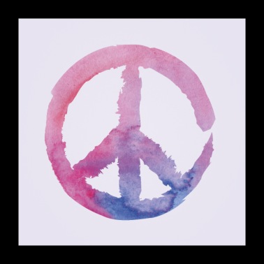 Peace Purple Poster Square - Poster 24 x 24 (60x60 cm)