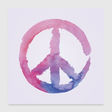 Peace Purple Poster Square - Poster 60x60 cm