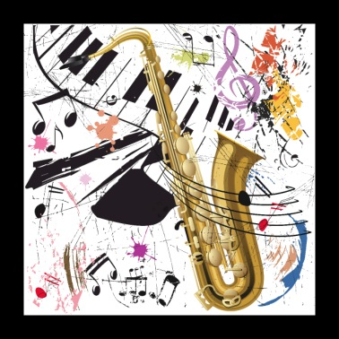 Sax in the City - Poster - Poster 60x60 cm