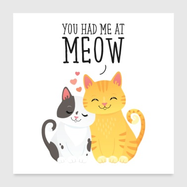 You Had Me At Meow - Poster 60x60 cm